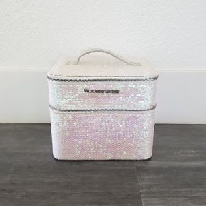 White Limited Edition VS Sequined Makeup Case